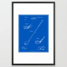 Golf Club Patent - Blueprint (v1) Framed Art Print