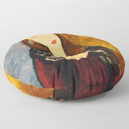 "Amedeo Modigliani ""Jeanne Hebuterne, seated"" Floor Pillow"