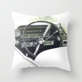 Summer time and Cadillacs Throw Pillow