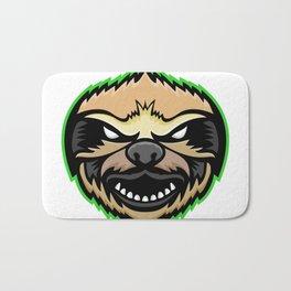 Angry Sloth Mascot Bath Mat