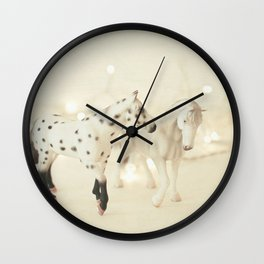 White Horses Wall Clock