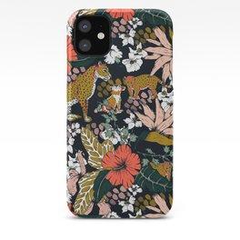 Animal print dark jungle iPhone Case