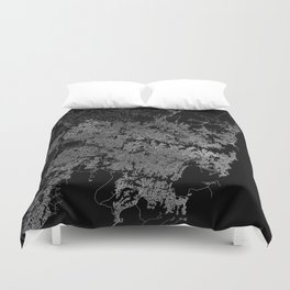 Sydney map Australia Duvet Cover