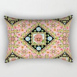 Cottage Pink Pansy Rectangular Pillow