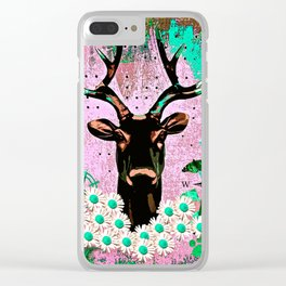 Deer Abstract Clear iPhone Case