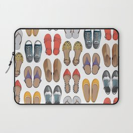 Hard choice // shoes on white background Laptop Sleeve