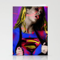 supergirl Stationery Cards featuring Supergirl by EarlyHuman