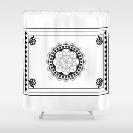 Mehindi Two Shower Curtain