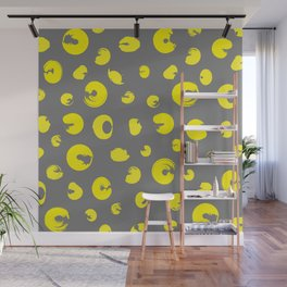 Yellow dotted pattern Wall Mural