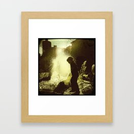 He Doesn't Know Why Framed Art Print
