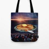 breakfast Tote Bags featuring Breakfast by Lerson
