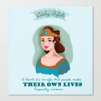 downton abbey Canvas Prints featuring Lady Sybil Crawley Downton Abbey by chiclemonade