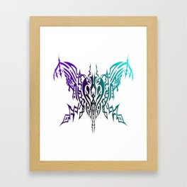 Tribal Spider Purple and Turquoise Framed Art Print