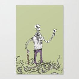 Exskellior the Skeleton Man Canvas Print