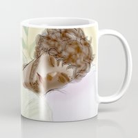 les mis Mugs featuring Sleeping ExR Les Mis by Pruoviare