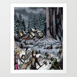 The Snow-Bound Village Art Print