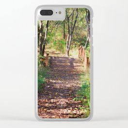 Over The Wooden Bridge Clear iPhone Case