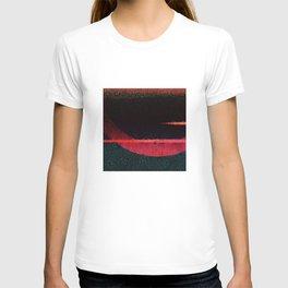 Textured Dark Red horizon Abstract Art T-shirt