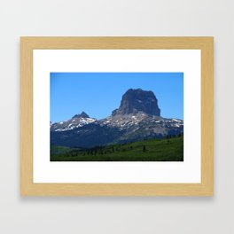 Chief Mountain Framed Art Print