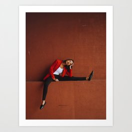 long day at the office Art Print