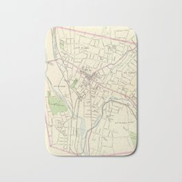 Vintage Map of Waterbury CT (1893) Bath Mat