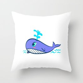 Whales Save The Whales Vintage Whale Watching Ocean Snorkeling Adventure Sea Life Fish Dolphin Throw Pillow