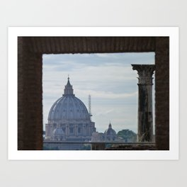 Saint Peter's Basilica framed by Domus Augustea Art Print