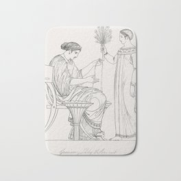 Priest of Bacchus  attendant from An  of the Egyptian Grecian and Roman costumes by Thomas Baxter(17 Bath Mat
