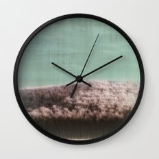 Abstract ~ Snowed landscape  Wall Clock