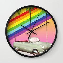 Retro Old Classic Car art Wall Clock