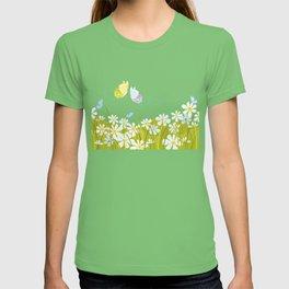 Summer. Butterflies. T-shirt