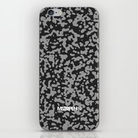 Comp Camouflage Pattern / Black iPhone Skin