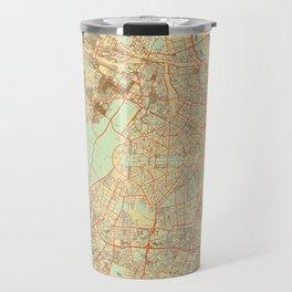 New Delhi Map Retro Travel Mug