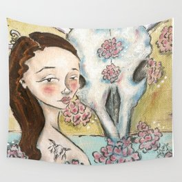 Bones and Blooms I Wall Tapestry