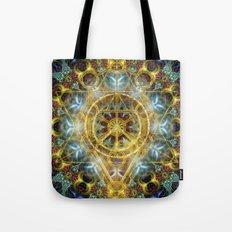 Sacred Geometry Fractal Mandala Tote Bag
