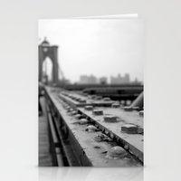 brooklyn bridge Stationery Cards featuring Brooklyn Bridge by Alane Gianetti