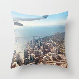 Miami Skyline Throw Pillow