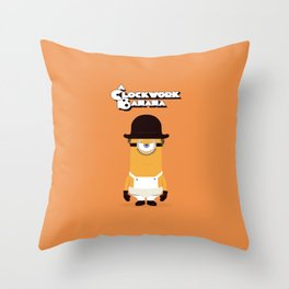 A Clockwork Banana Throw Pillow