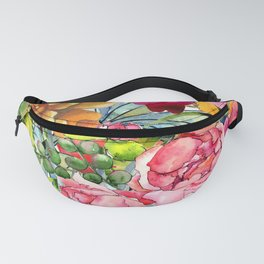 Watercolor Flowers No3 Fanny Pack