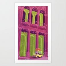 The Yellow Car Art Print