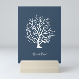 AFE Branch Coral, Blue Grey Mini Art Print
