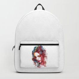 Sad Woman Backpack