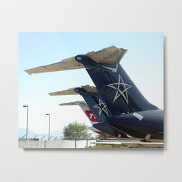 Trans World Airlines and Legend Airlines DC-9 tails Metal Print