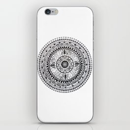 Mandala black and white iPhone Skin