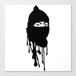 Mask On Canvas Print