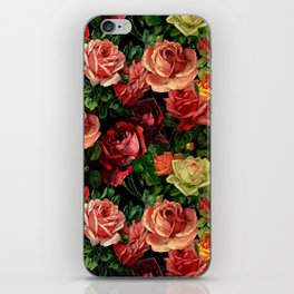 Vintage & Shabby chic - floral roses flowers rose iPhone Skin