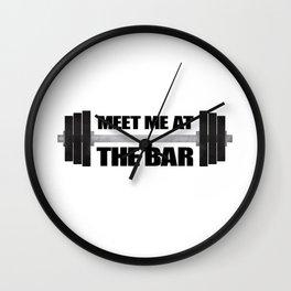 Meet Me At The Bar Wall Clock