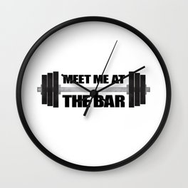 Meet Me At The Bar Wall Clock