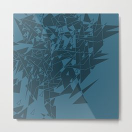 Glass BG Metal Print