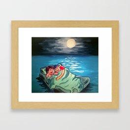 Love Ice Flow Framed Art Print